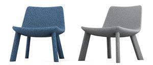 neat lounge chair blu 3D model