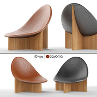 nido modern lounge chair 3D