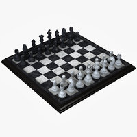 realistic chess set 3D model