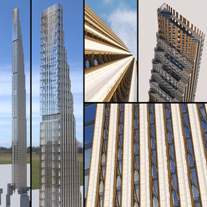 3D model skyscraper 111 west 57th