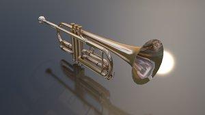 3D trumpet bass instrument model