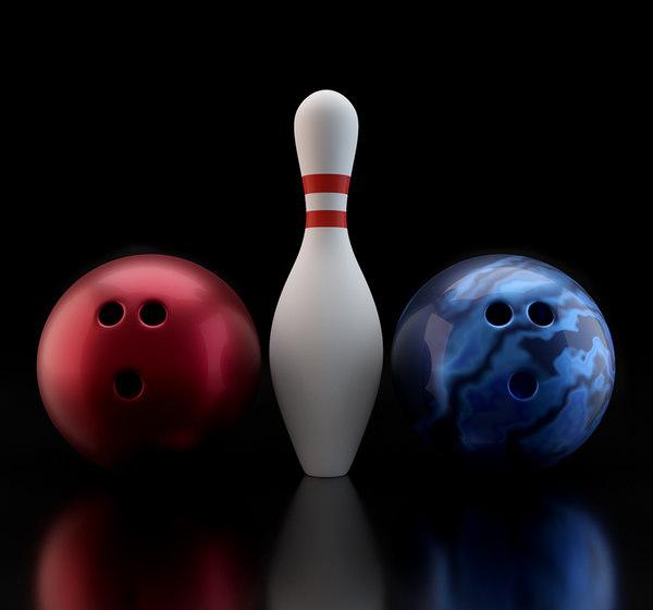 3D bowling balls pin model