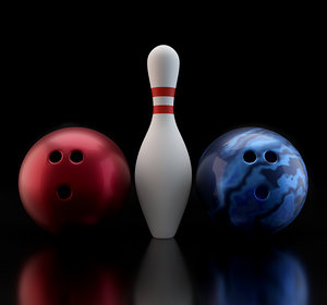 3D bowling balls pin model