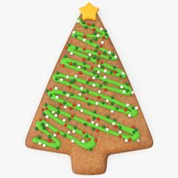 christmas gingerbread tree 3D model