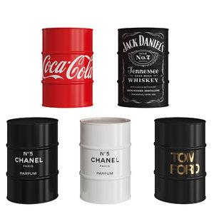 barrels brands daniels 3D