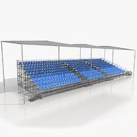 demontable aluminium tribune stand 3D model