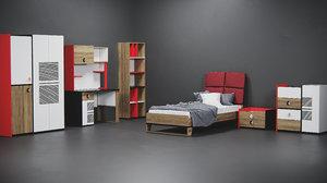 set furniture 3D model