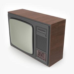 3D soviet tv model
