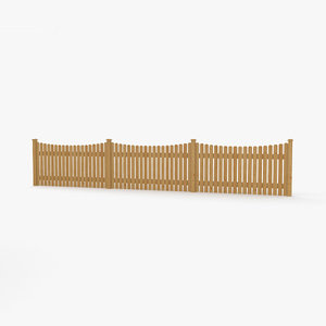wooden fence wood model