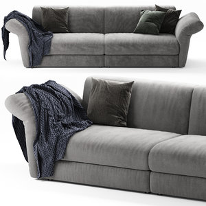 3D bonaldo cortina sofa model