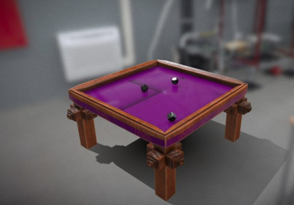 dice table 3D model