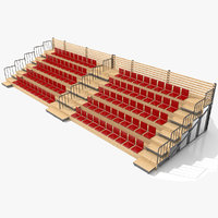 demontable woody tribune stand 3D model