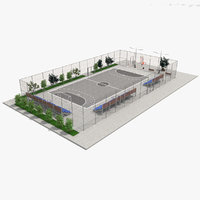 3D street football play ground model