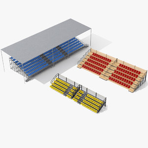 3D model demontable tribune