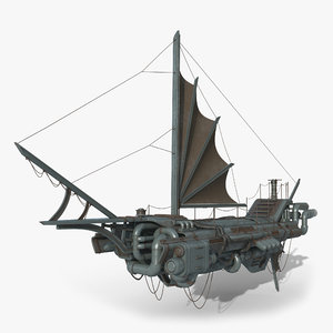 dystopian ship 3D model