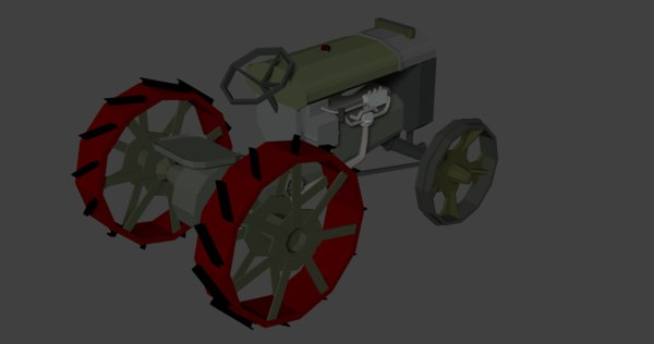 fordson - plugovec tractor 3D