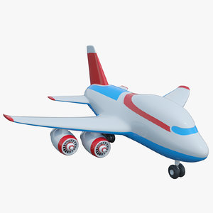 3D cartoon toy airplane