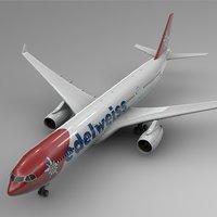 3D airbus a330-300 edelweiss air