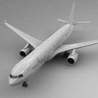3D airbus a330-300 getjet airlines model