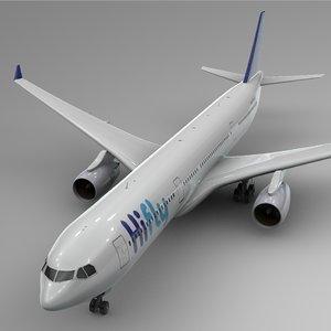 3D model airbus a330-300 hi fly
