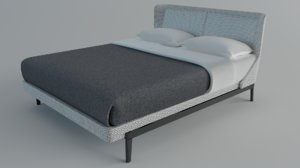 3D bed doublebed molteni c model
