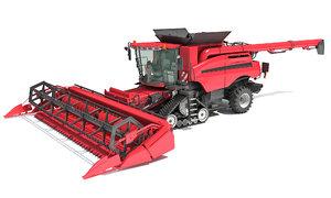 3D combine harvester model