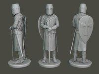 3D knight templar stand t1