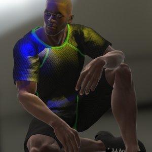 3D model king muscular strong