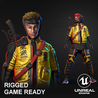 3D blender unreal character model