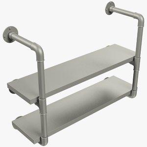 3D shelf shelving furniture model