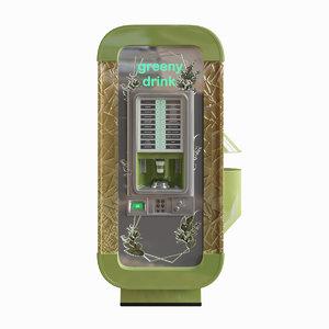 3D custom vending machine coffee