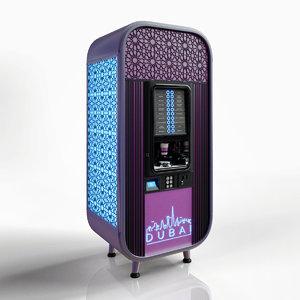 3D night vending machines