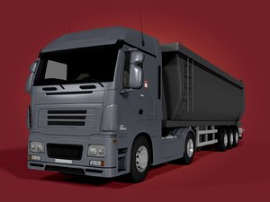 3D tipping truck - trailer model