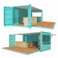 V2 Mobile shipping container restaurant