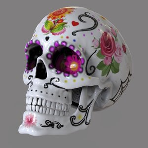 mexican calaverita 3D