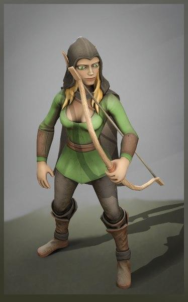 3D fantasy character