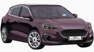 3D model focus hatchback vignale 2019