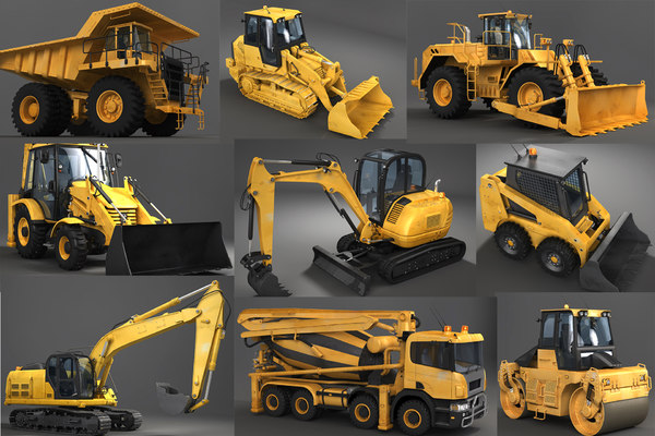 3D model heavy machinery industrial vehicles