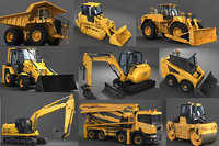 Heavy machinery industrial vehicles pack - High Detailed 3d models bundle of heavy vehicle