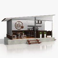 street coffee shop 3D model