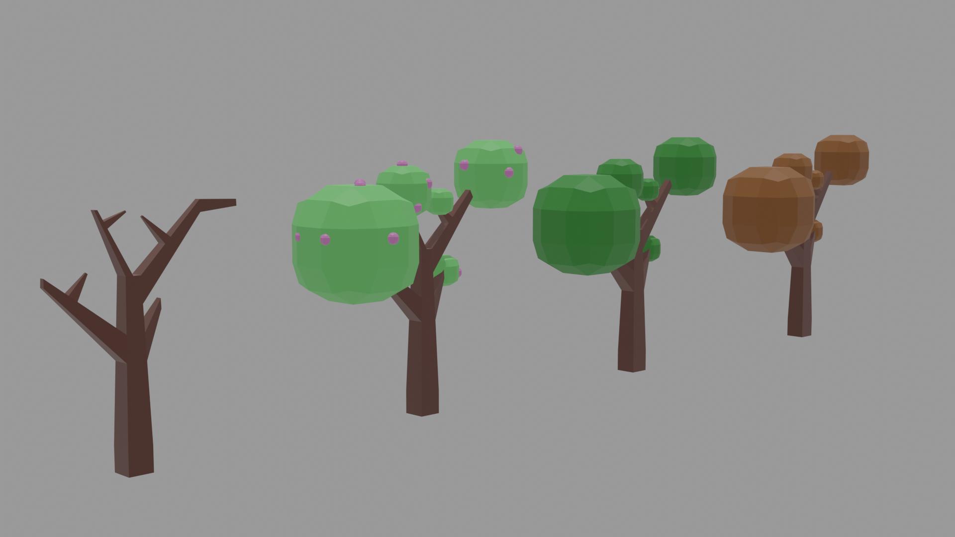 seasons tree 3D model