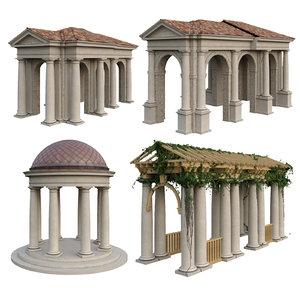 tuscan order columns 3D