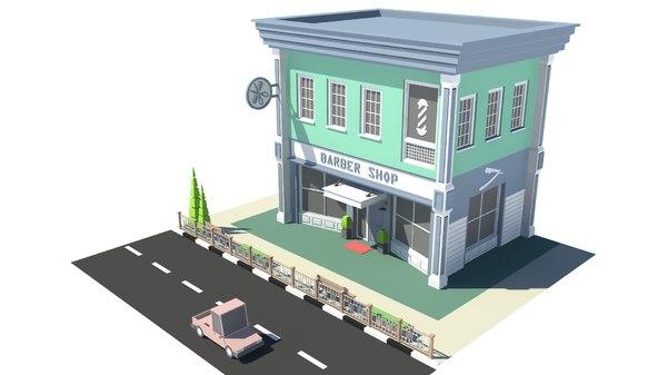 barbershop 02 3D model