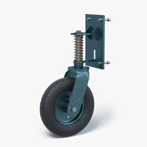 gate wheel 3D model