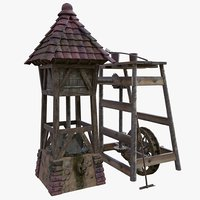 3D oilmill building model