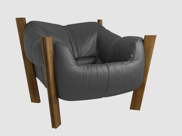 3D percival lafer leather lounge chair model