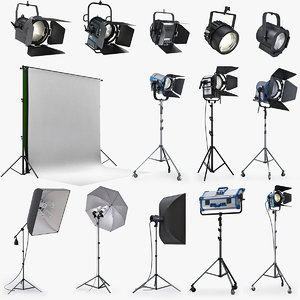 studio lighting softbox 3d lwo