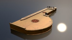 3D zither musical instrument