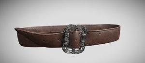 3D pirate belt