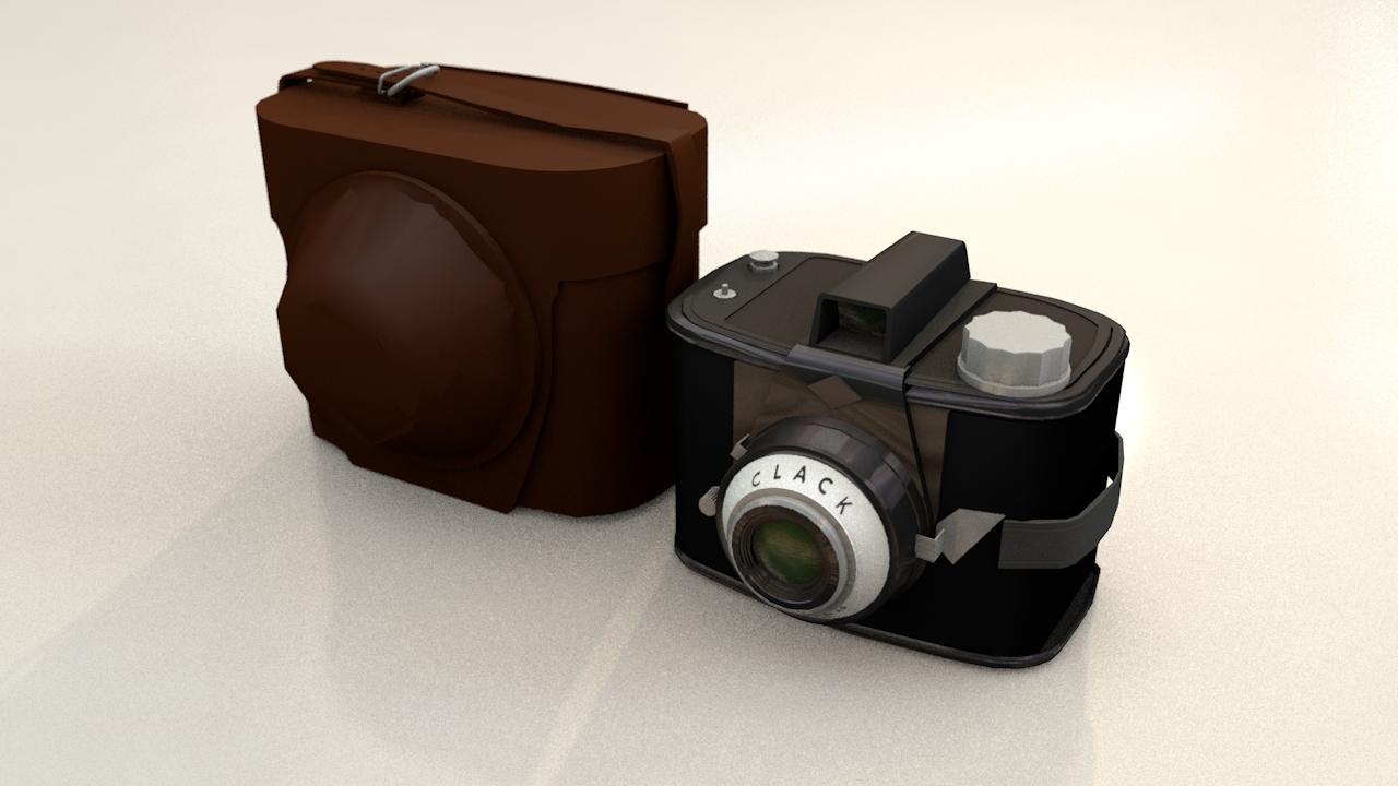 3D agfa vintage photo camera